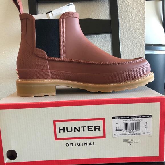 2b47f1b6b15 Hunter Men's Original Moc Toe Chelsea Boots